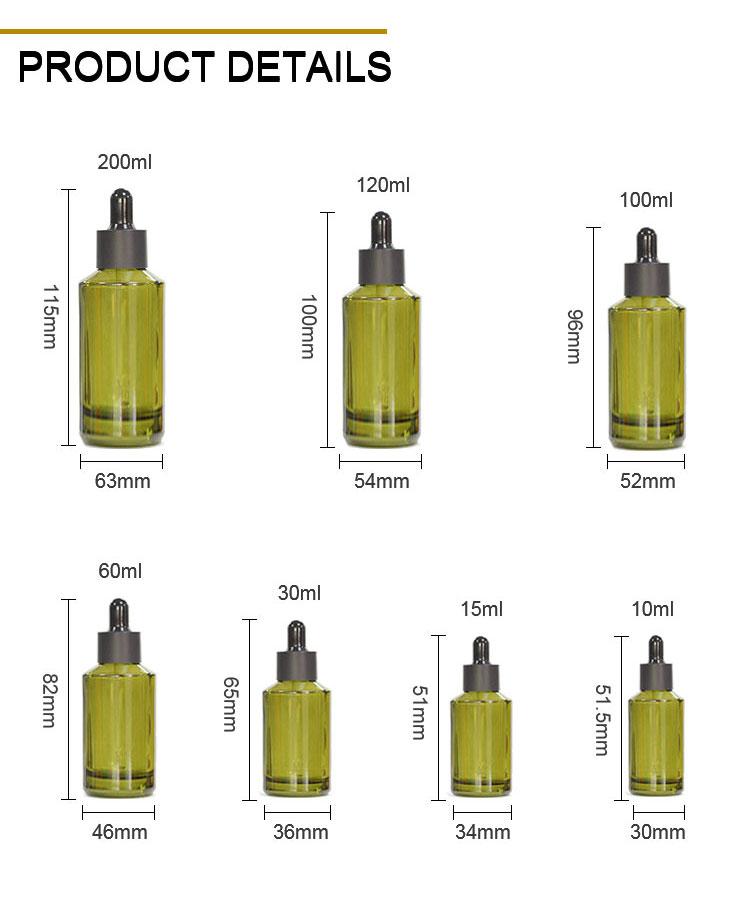 Slant essential oil dropper bottle