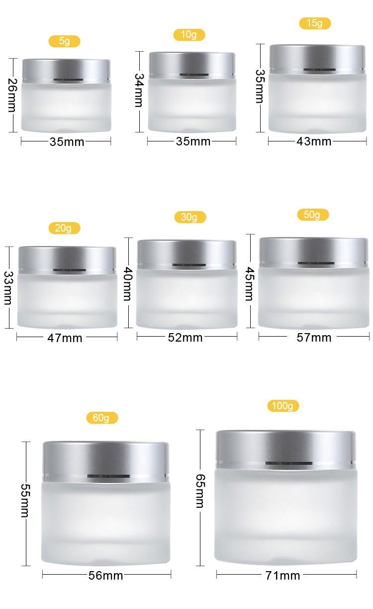 specification of Glass Cream Jar