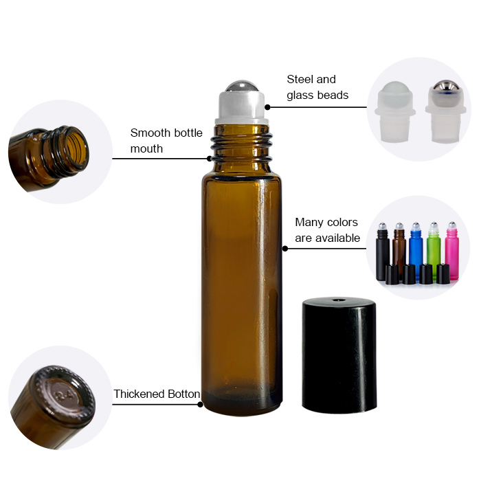Cylindrical Roll on Perfume Bottle