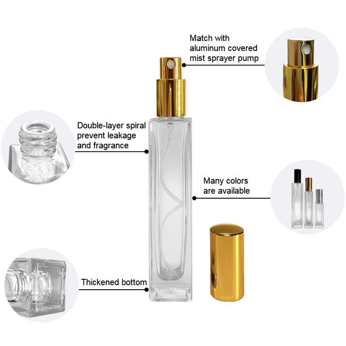 Square Spray Perfume Bottle