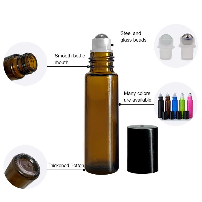 Round roll on oil bottle
