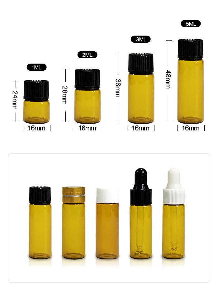 Amber sample bottle
