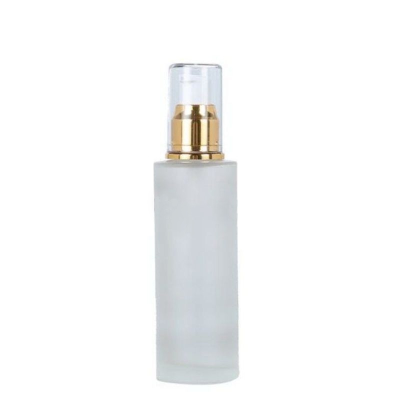 Flat shoulder lotion bottle