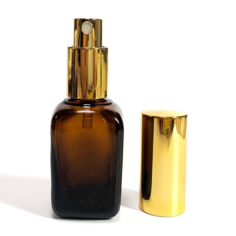 Irregular square lotion bottle