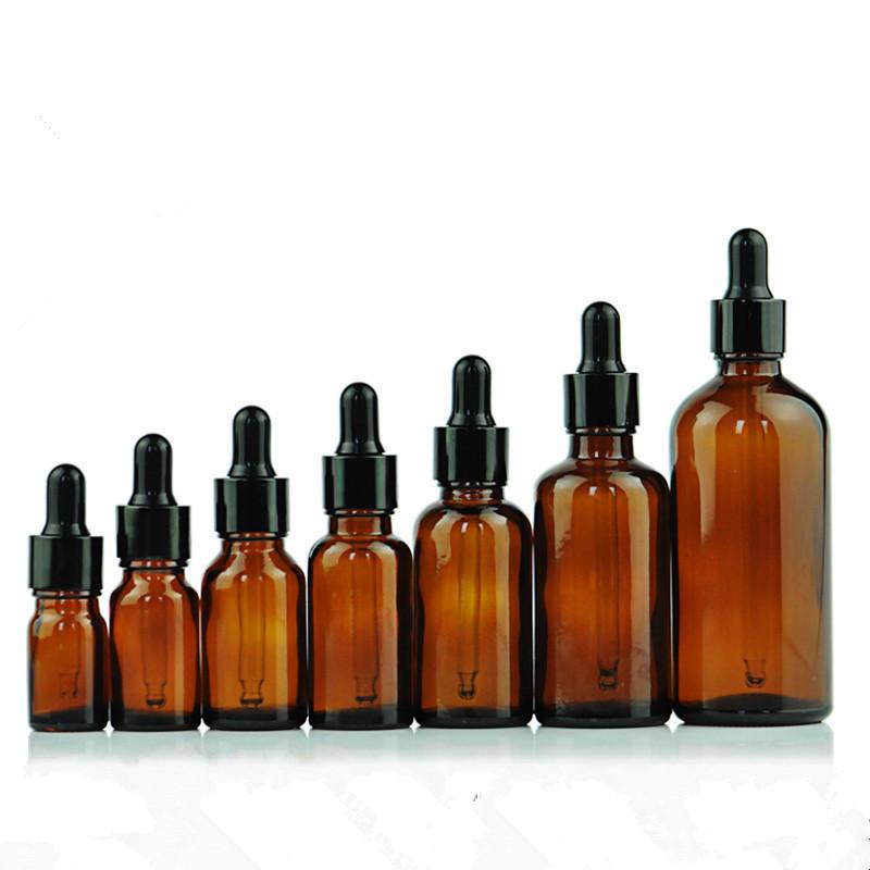Amber essential oil bottle