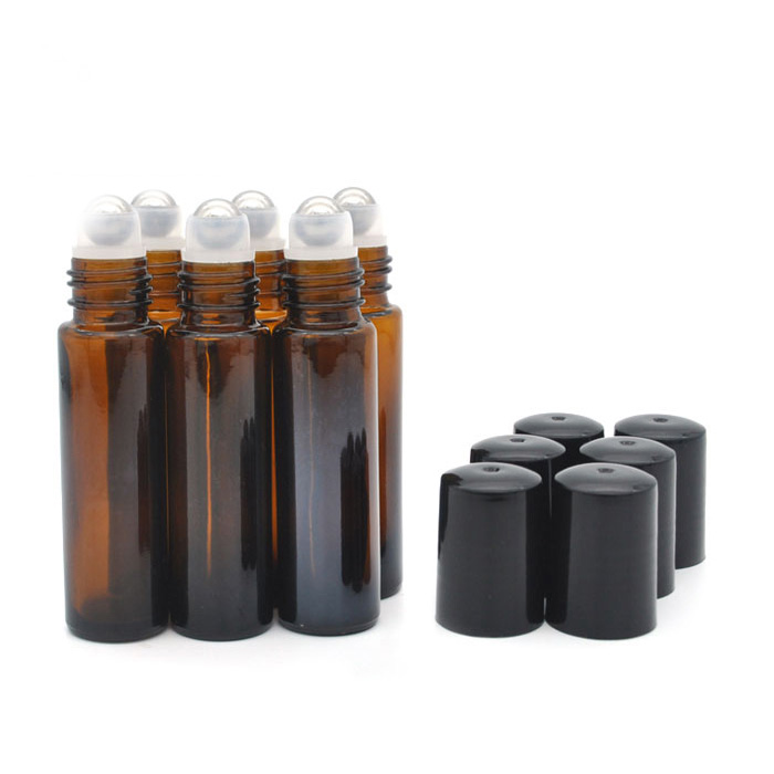 Amber Roll-On Essential Oil Bottle
